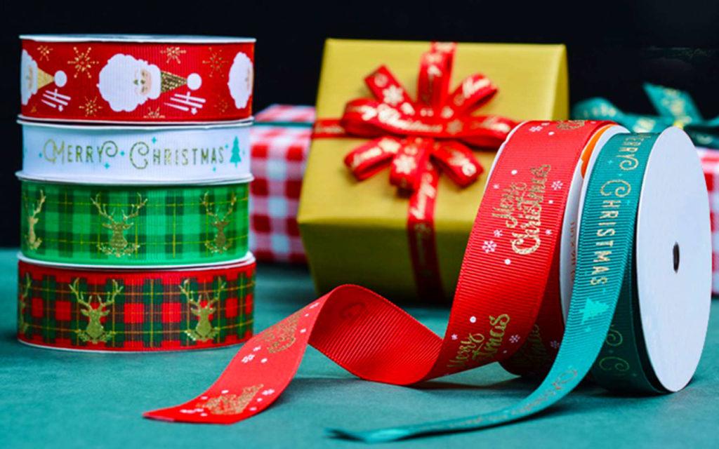 Rubans imprimés Noel
